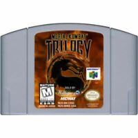 Mortal Kombat Trilogy Authentic Nintendo 64 N64 Game Cartridge CLEANED *VG
