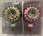 NEW! Indented Glass Christmas Ornaments Box of 4 December Home.