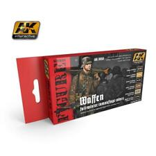 AK Interactive ACRYLIC PAINT SET WAFFEN SS FALL/WINTER CAMOUFLAGE 6 COLOUR set