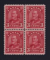Canada Sc #167 (1931) 3c deep red Arch Block of Four Mint VF NH MNH