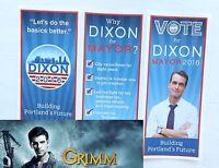 NBC Grimm TV Show Prop Hero Production Vote Andrew Dixon Mayor Michael Sheets