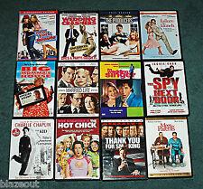 DVD Lot 12 Assorted Romance Comedy Videos - Sandler Stiller De Niro DVDs Films