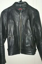 Milwaukee Leather Motorcycle Jacket Women's M Black Scooter Padded Vents & Liner