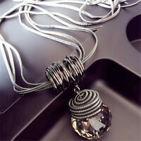 New Fashion Woman Pendant Big Drop Long Paragraph Sweater Chain Crystal Necklace