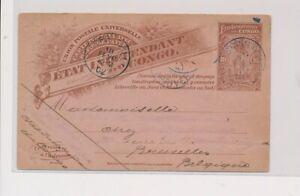 LM82055 Congo 1902 Free State postal stationery fine postcard used