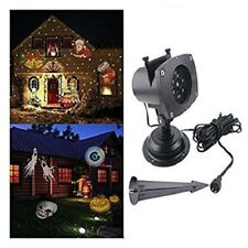 LED Lights Projector Halloween Outdoor Party Christmas Lawn Lamp 12 Patterns