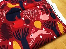 Marimekko Pikku Huhuli cotton fabric, half yard, from Finland red Christmas