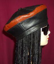 No Brand, H hecha de reciclar Boina Sombrero de cuero, tamaño L 22.6/8 pulgadas 57.07 Cm
