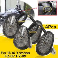 4Pcs LED Turn Signal Blinker Lights Lamp Flush Mount For Yamaha FZ-07 FZ-09 2014