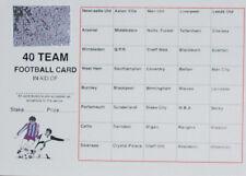 2 Football scratch CARDS fundraising Team Card Scratch Panel 40 Team (or 80team)