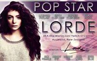 LORDE New Zealand plastic ID card Drivers License wonderful singer