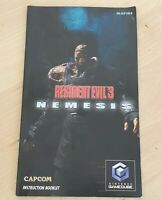Resident Evil 3: Nemesis - Nintendo GameCube MANUAL ONLY  - no game