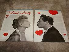 I LOVE LUCY article with Lucille Ball, Desi Arnaz as Ricky Ricardo, Lucie Arnaz