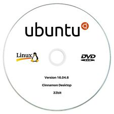 Linux Ubuntu Desktop 16.04.6 32bit Live Bootable DVD Rom Lunix Operating System