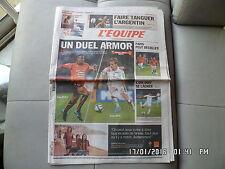L'EQUIPE DU 20/11/2010 Rennes Brest PSG OM J55