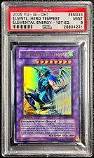 Yu-Gi-Oh! PSA 9 MINT 1st Ed. 'Elemental Hero Tempest' EEN-EN034