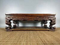 16'' Chinese Antique Table natural Rosewood wood tea table shell Table LHM