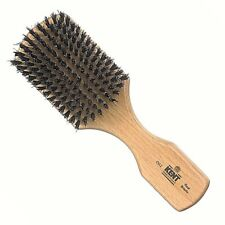 BEECH WOOD BLACK BRISTLE RECTANGULAR/CLUB HAIR BRUSH KENT BRUSHES HANDMADE ROYAL