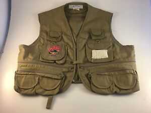 Vintage 80s Joe Camel Cigarettes Embroidered Joe's Fish & Game Club Fishing Vest