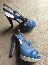 Blue High Heels - Size 8 - Worn by Celebrity - Autographed Shoes