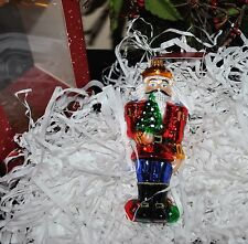 NUTCRACKER Art STUDIO Glassware blown Ornament/Figurine Large RARE Poland 5.5""