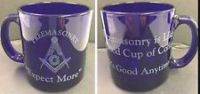 Freemasonry Like a good cup of Coffee, it's good Anytime Cobalt Blue Coffee Cup