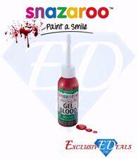 Snazaroo FX Gel SANGUE, SANGUE SCURO GEL Speciale Effetto Realistico Halloween - 50 ML