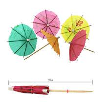 50pcs 3D Exotic Drinking Straws Bar Party Umbrella Cocktail Parasol Sticks decor