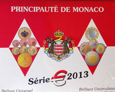 MONACO OFFICIAL BU 2013 5,88 EURO COIN SET, MINTAGE ONLY 10 000 sets