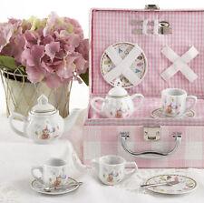 Delton Children's Porcelain Tea Set for 2-Medium Size-Party Bear-#8097-4