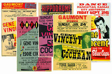 GENE VINCENT - SET OF 5 - A4 POSTER PRINTS # 1