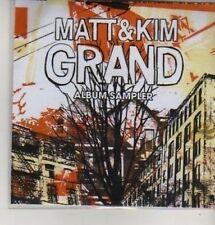 (AZ345) Matt & Kim, Grand Album Sampler - DJ CD