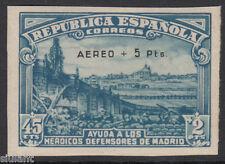 DEFENSA MADRID - ** 759 SIN DENTAR - AÑO 1938 - CERT. COMEX - LUJO ¡¡¡