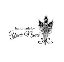 PERSONALIZED  CUSTOM MADE NAME RUBBER STAMPS UNMOUNTED H52