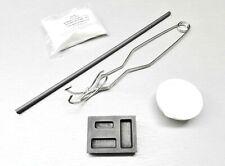 Torch Melting Kit Gold & Silver Set Crucible Borax Tong Rod Graphite Ingot Mold