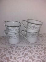 Fine porcelain China Cups, set of 4. Diane.  Japan