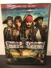 Pirates of the Caribbean: On Stranger Tides Includes DVD & BLU-RAY New Sealed