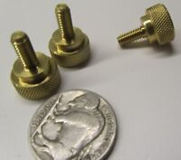 "Straight Shoulder Brass Thumb Screw, 1/2"" Dia,  8-32 x 3/8"" Length, 3 Pc"