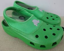 CROCS CROCLING KID'S BRIGHT GREEN SLIP ON SHOES SIZE M3/W5 NEW WITH TAGS
