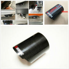 1Pcs Glossy Black Carbon Fiber 3'' Car Exhaust Tip Pipe Decor Housing Case Cover