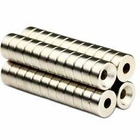 20 starke Runde Neodym Ring-Magnete 12 x 5 mm Loch 4mm Scheibe seltene Erden N50