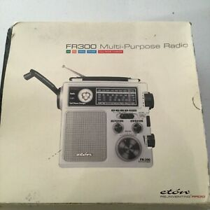 ETON FR300 Hand-Crank Multi-Purpose AM/FM/TV-VHF Radio NOAA Weather Emergency