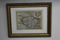 19th Century Antique Map Of Limousin France Partially Hand Painted In Latin