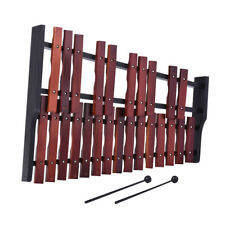 25 Note Wooden Xylophone Percussion Educational Gift with 2 Mallets E1Y7