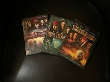 Pirates of the Caribbean Dvd Movies 1-3 Jack Sparrow