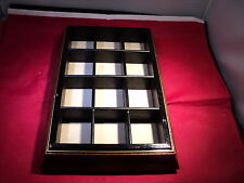 Thimble Lego wooden display case picture frame style holds 12 thimbles code12pic