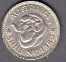 1962  Australian Silver One shilling 1/- QUEEN Elizabeth II (very Nice)