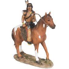 Indianer Figur Reiter auf Pferd Western Winnetou Apachen Sammlerfigur I68