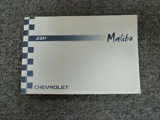 2004 Chevy Malibu Sedan Owner Owner's Manual User Guide Book 1LS LT 2.2L 3.5L