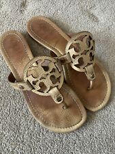 TORY BURCH GOLD LEATHER SANDALS SIZE UK 5
